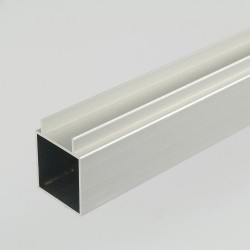 2m ProFrame Self Colour Aluminium Double Finned Square Tube - Single Face