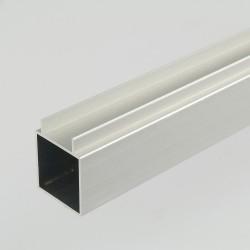2m ProFrame Self Colour Aluminium Double Finned Square Tube - Single Face