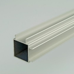 2m ProFrame Self Colour Aluminium Double Finned Square Tube - Adjacent Face