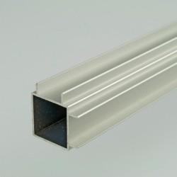 2m ProFrame Self Colour Aluminium Double Finned Square Tube - Adjacent Face
