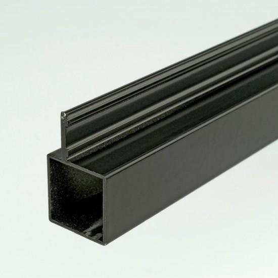 2m ProFrame Black Aluminium Single Fin Square Tube