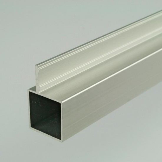 2m ProFrame Self Colour Aluminium Single Fin Square Tube