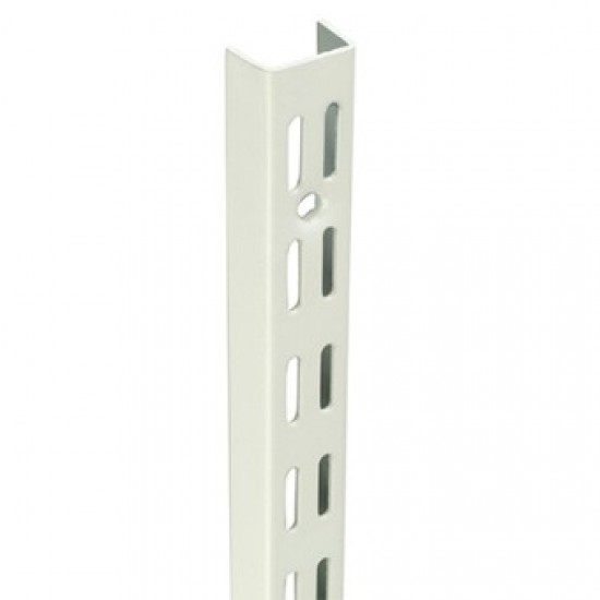0.43m/430mm White Twin Slot Shelving Upright