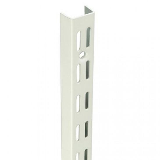 0.71m/710mm White Twin Slot Shelving Upright
