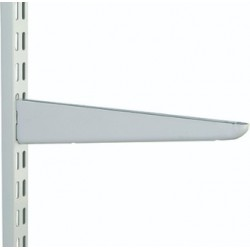 120mm White Twin Slot Shelving Bracket