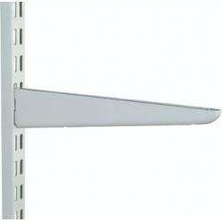 120mm White Twin Slot Shelving Bracket