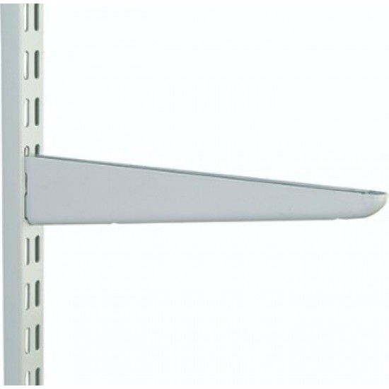 470mm White Twin Slot Shelving Bracket