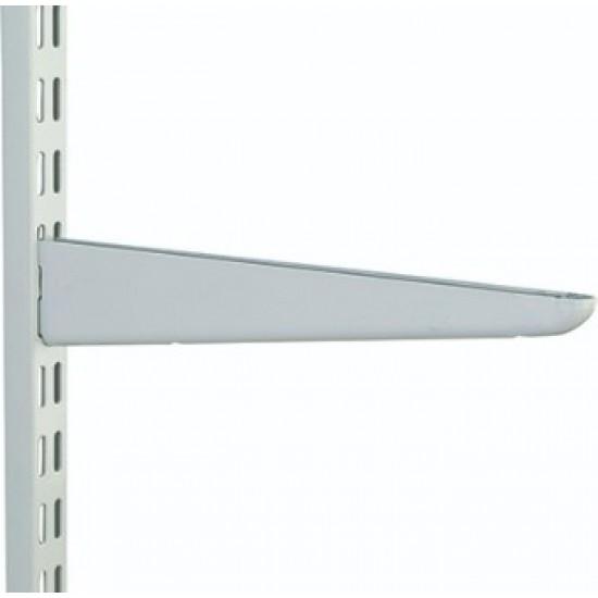 470mm White Twin Slot Shelving Bracket
