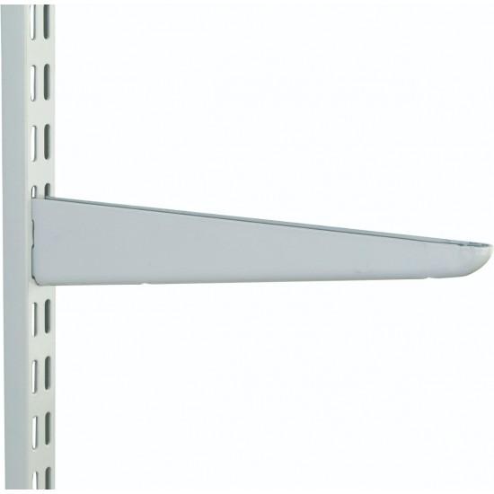 370mm White Medium Duty Twin Slot Shelving Bracket