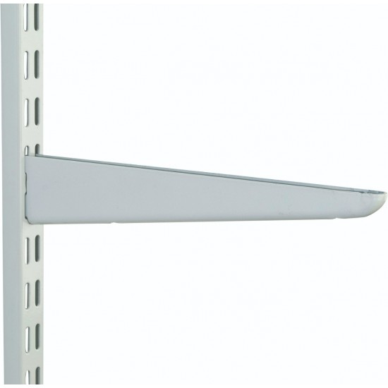 370mm White Medium Duty Twin Slot Shelving Bracket