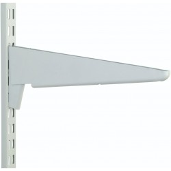 370mm White Heavy Duty Twin Slot Shelving Bracket