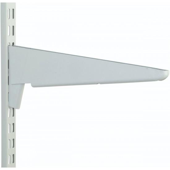 610mm White Heavy Duty Twin Slot Shelving Bracket