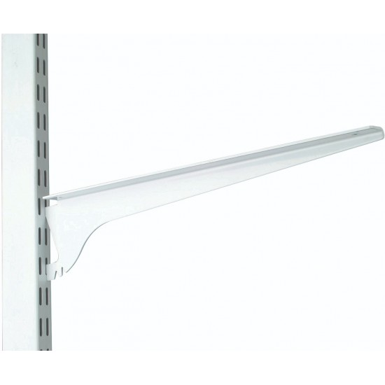 260mm White 3 Position Twin Slot Shelving Bracket