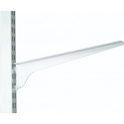 390mm White 3 Position Twin Slot Shelving Bracket
