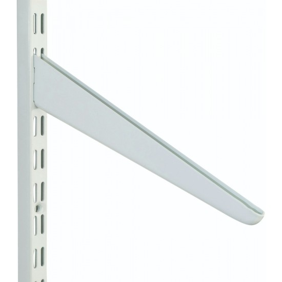 180mm White Slanting Twin Slot Shelving Bracket