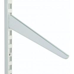 180mm White Slanting Twin Slot Shelving Bracket