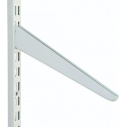 280mm White Slanting Twin Slot Shelving Bracket