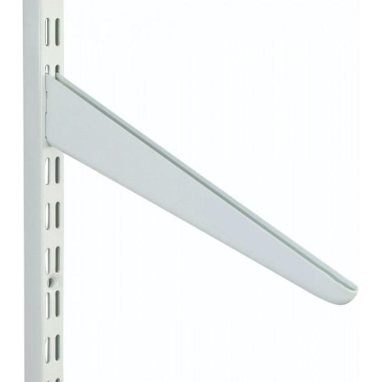370mm White Slanting Twin Slot Shelving Bracket
