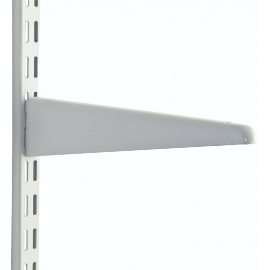 120mm White Upside Down Twin Slot Shelving Bracket