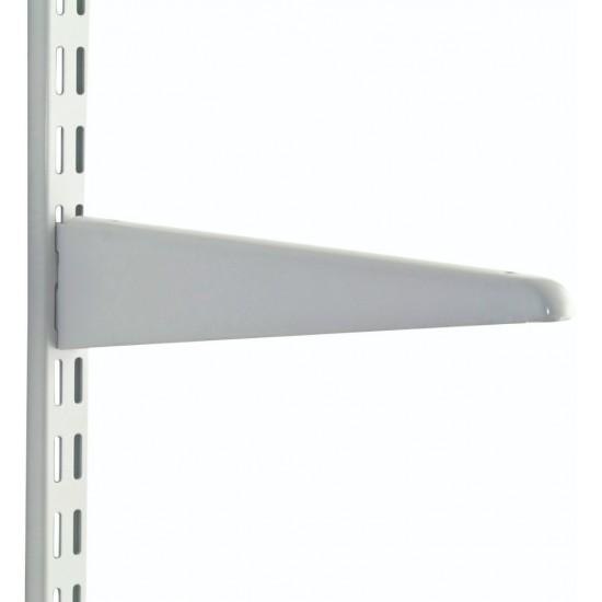 170mm White Upside Down Twin Slot Shelving Bracket