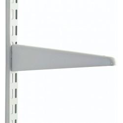 220mm White Upside Down Twin Slot Shelving Bracket