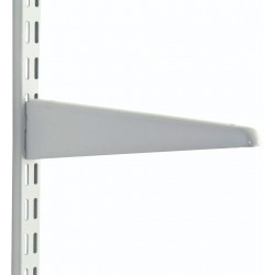 370mm White Upside Down Twin Slot Shelving Bracket