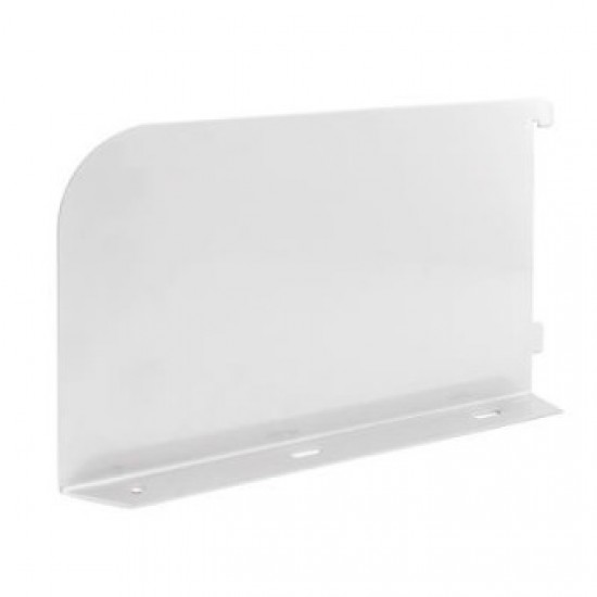 White Shelf Bookends 250mm x 150mm - Twin Slot Shelving Pair