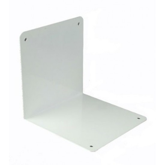 White Free Standing Bookends 250mm x 250mm - Twin Slot Shelving Single