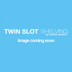 1.22m/1220mm White Twin Slot Shelving Upright
