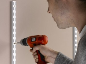 Ensure the twin slot shelving uprights are installed correctly